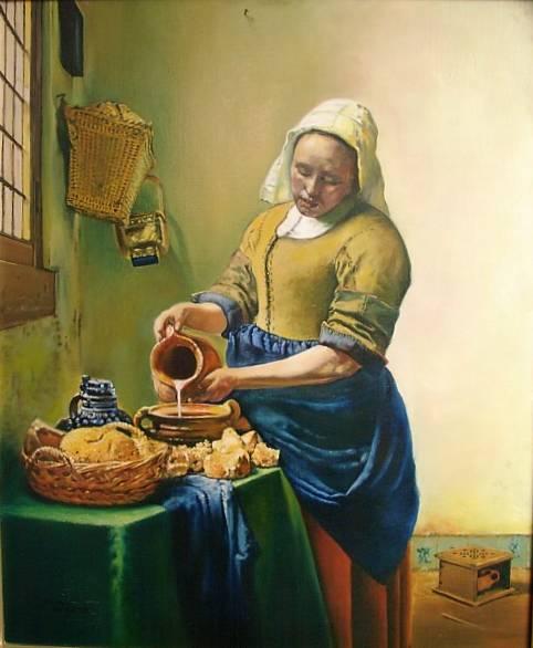 La laitière, d'après Jean Vermeer